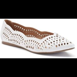 Candies Lazer Cut Pointed Toe Flats